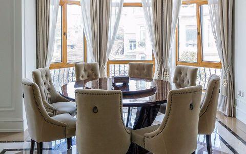 餐厅窗帘简欧风格装潢图片