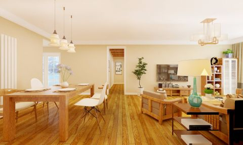 日式风格161平米四室两厅新房装修效果图