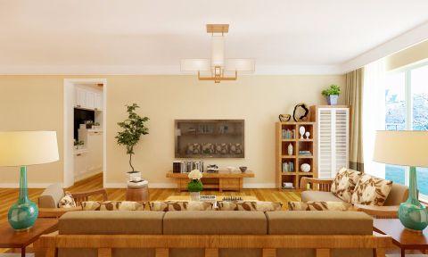 客厅电视柜日式风格装潢设计图片