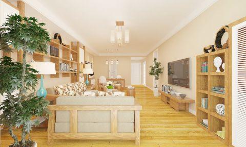 客厅吊顶日式风格装修效果图