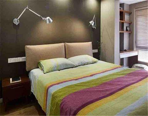 卧室背景墙北欧风格装修图片