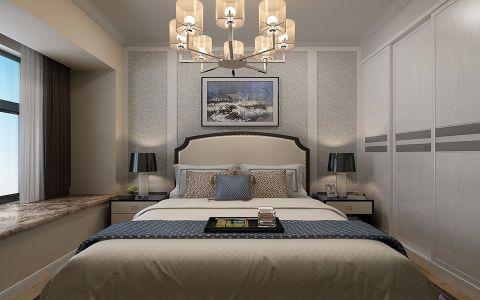 卧室吊顶现代中式风格装修设计图片
