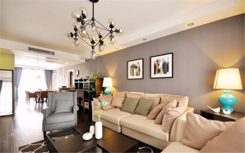 客厅吊顶现代简约风格装饰设计图片