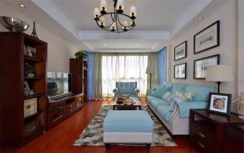 客厅照片墙美式风格装饰图片