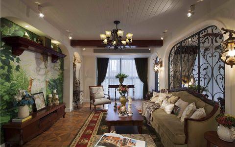 朗庭豪园美式乡村120平两室两厅装修效果图