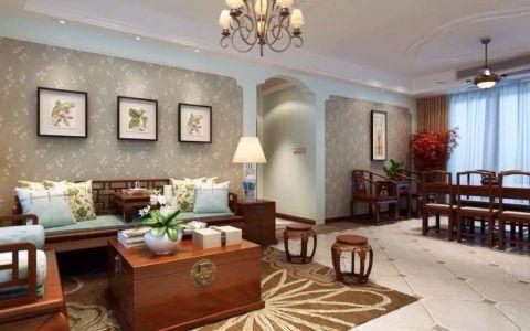 客厅茶几美式风格装修图片