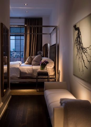 卧室窗帘后现代风格装修图片
