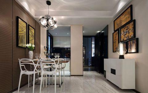 餐厅照片墙现代风格装修设计图片