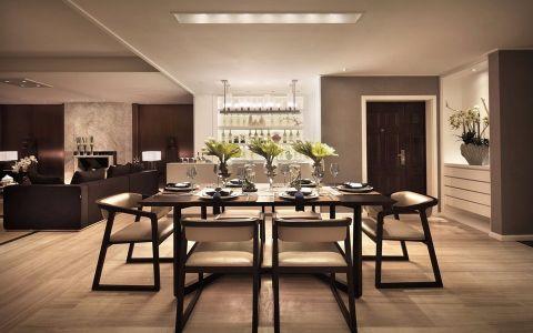 餐厅地板砖现代风格装潢设计图片