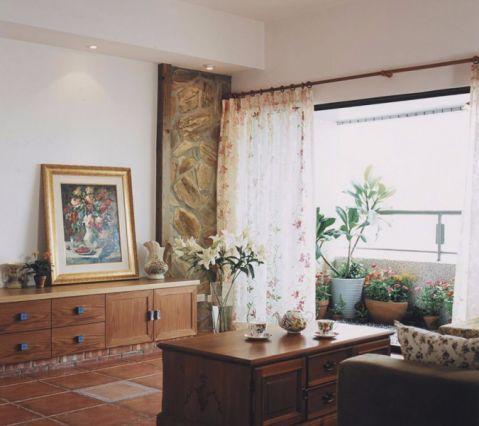 田园风格100平米公寓室内装修效果图