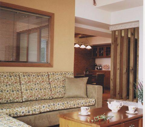 客厅茶几田园风格装潢效果图