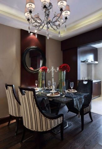 餐厅餐桌美式风格装饰设计图片