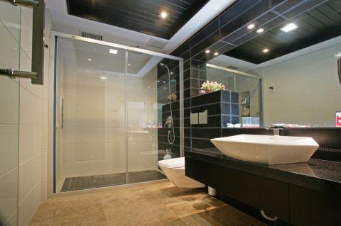 卫生间隐形门现代风格装潢设计图片