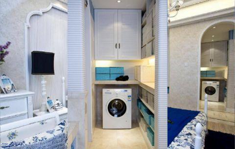 地中海风格120平米三室两厅室内装修效果图