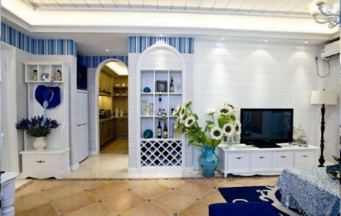 客厅电视柜地中海风格装潢设计图片
