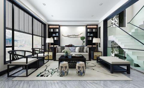 新中式风格354平米别墅室内装修效果图