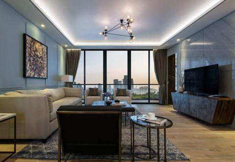 翰澜苑110平米两居室现代简约风格装修效果图