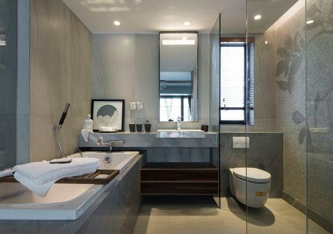 卫生间推拉门现代简约风格装潢图片