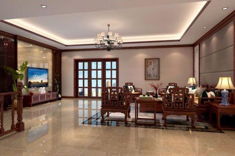中式风格100平米公寓室内装修效果图
