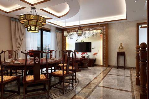 餐厅地砖中式风格装饰效果图