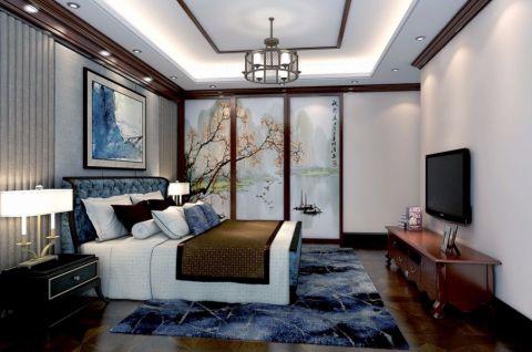 卧室电视柜中式风格装修图片