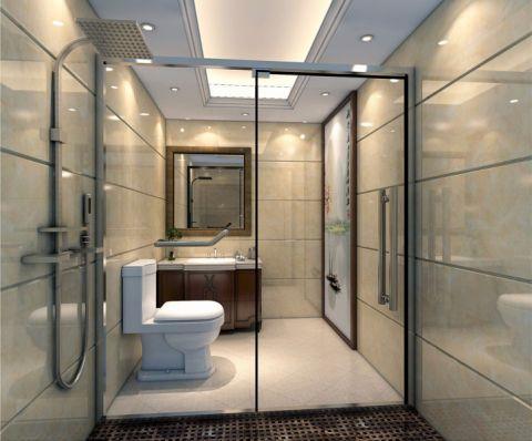 卫生间推拉门中式风格装饰图片