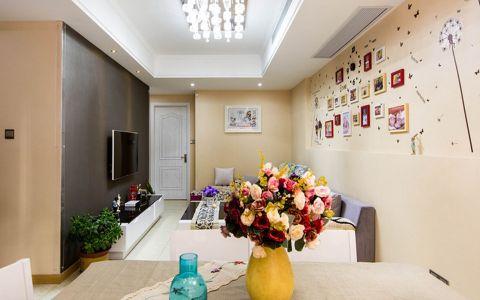 现代简约风格80平米公寓室内装修效果图