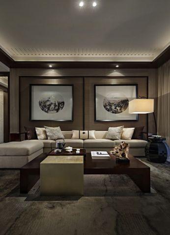 客厅照片墙中式风格装潢图片