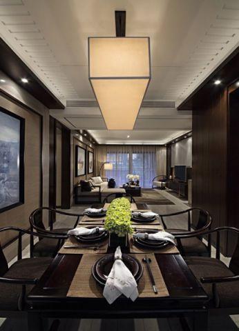 餐厅餐桌中式风格装修设计图片