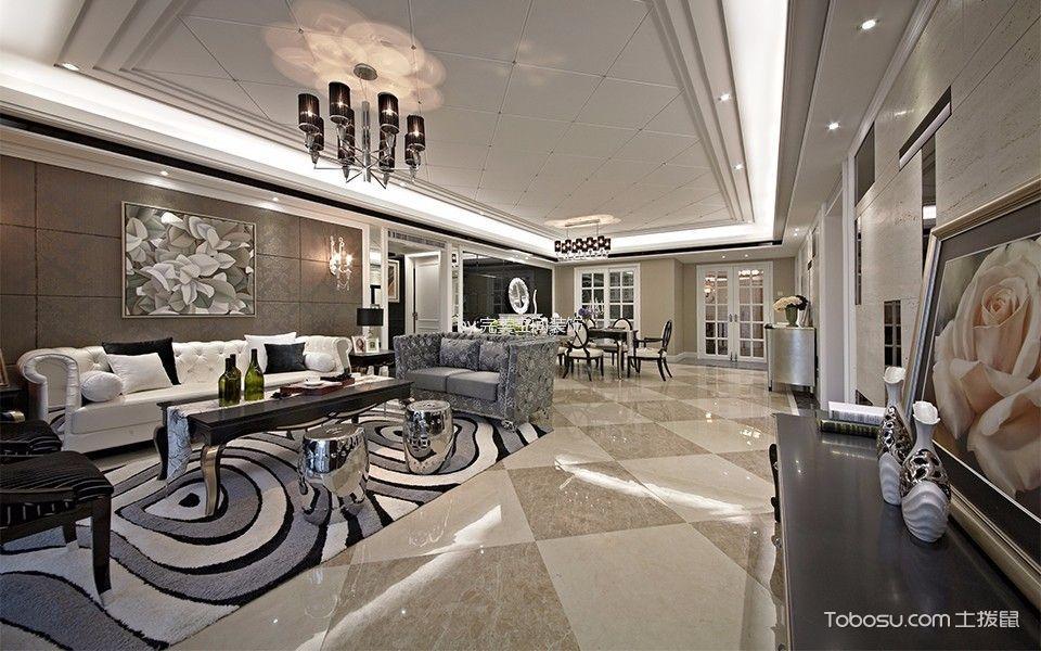 现代风格230平米大户型室内装修效果图