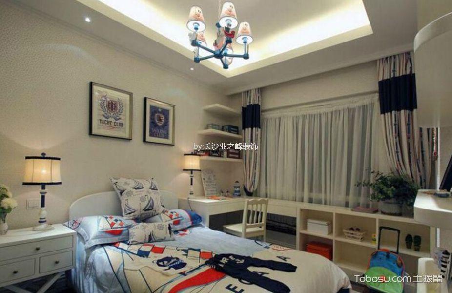 地中海风格128平米三室两厅新房装修效果图