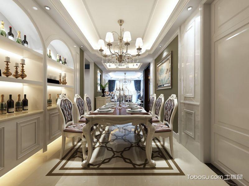 餐厅白色地砖欧式风格装饰设计图片