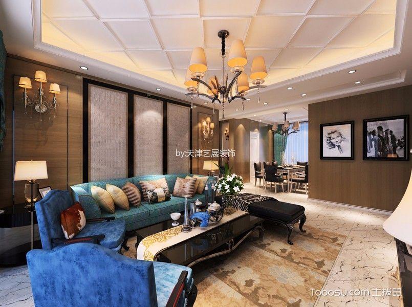 后现代风格120平米三室两厅新房装修效果图