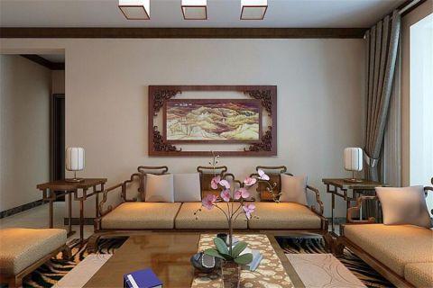 客厅沙发中式风格装潢效果图