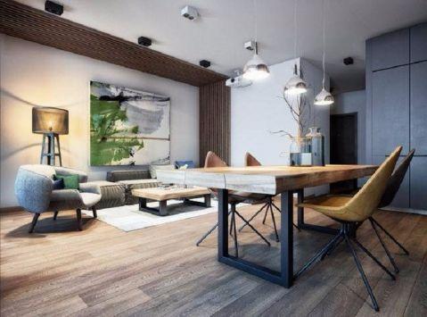 现代简约风格110平米公寓新房装修效果图