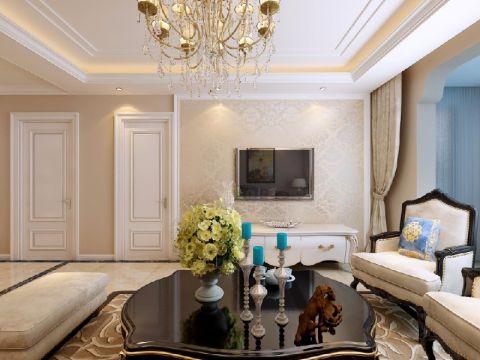 客厅电视柜简欧风格装饰图片