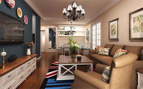 客厅电视柜混搭风格装修图片