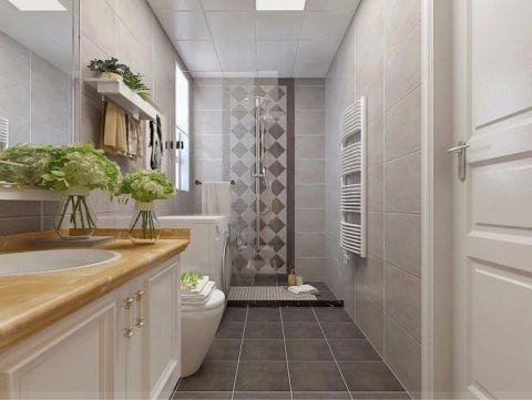 卫生间隔断美式风格装修效果图