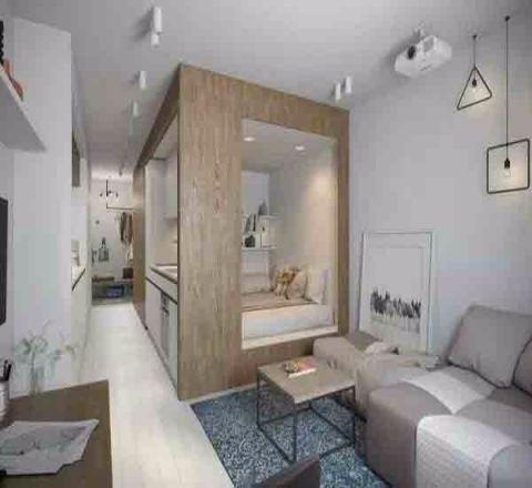 现代风格29平米小户型室内装修效果图