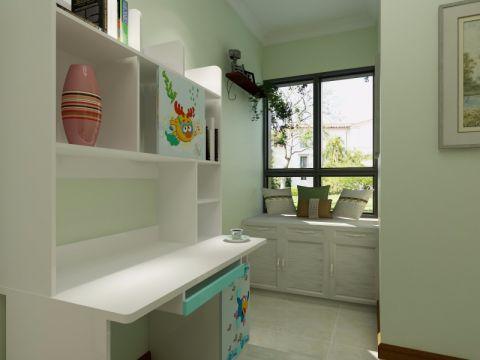 书房书桌简约风格装饰设计图片