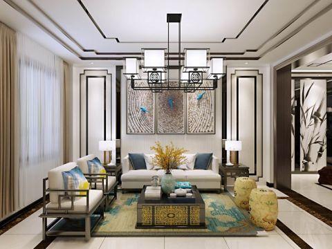中式风格200平米别墅室内装修效果图