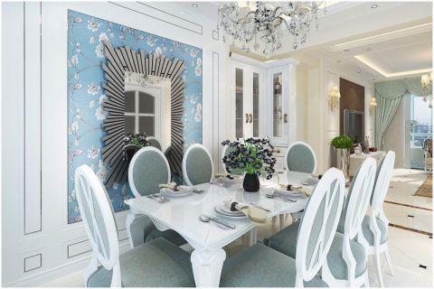 餐厅餐桌欧式风格装潢效果图