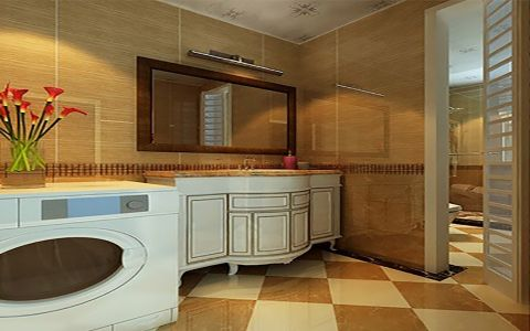 卫生间背景墙新古典风格装修图片