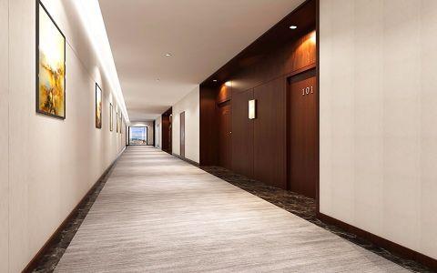 绿谷酒店简约风格酒店工装效果图