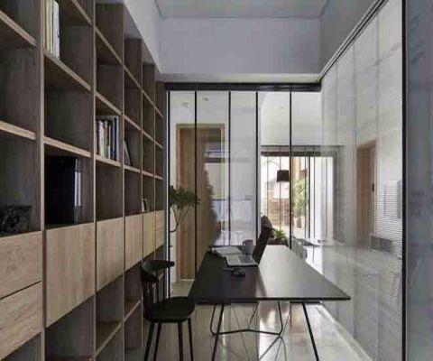 书房书桌现代简约风格装潢图片