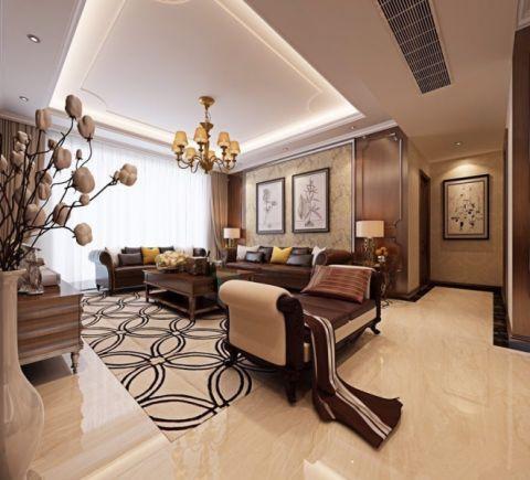美式风格162平米四室两厅新房装修效果图