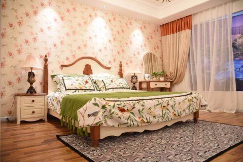 卧室床田园风格装修设计图片