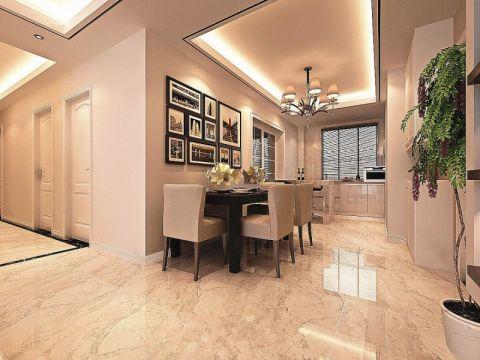 混搭风格130平米三室两厅新房装修效果图