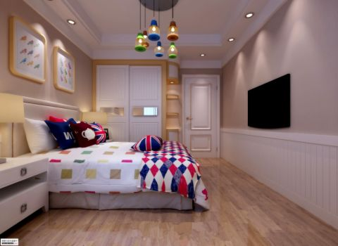 儿童房地板砖混搭风格装饰效果图