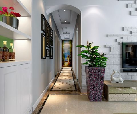 客厅走廊美式风格装修设计图片